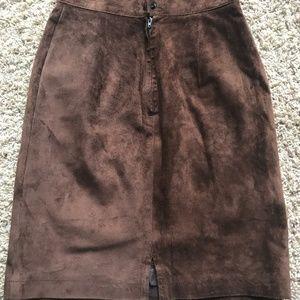 Ann Taylor Suede Pencil Skirt